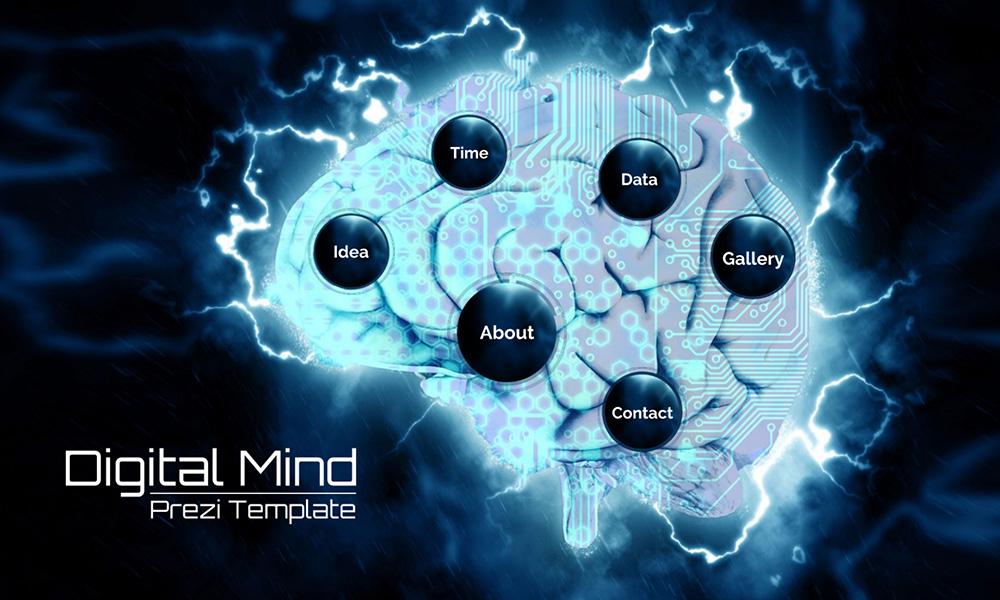digital mind  u2013 prezi presentation template