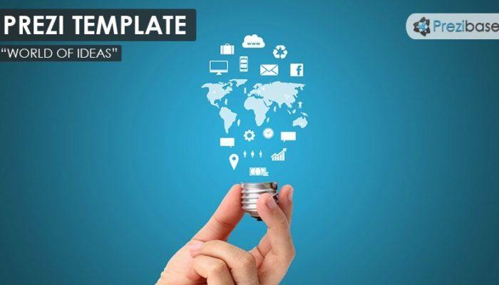 world of ideas – prezi presentation template | | creatoz collection, Powerpoint templates