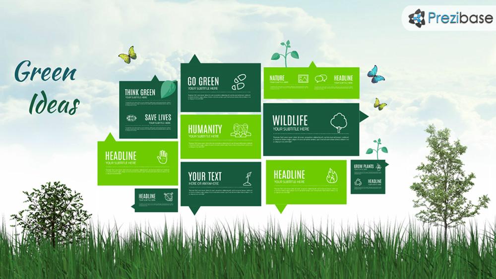 green ideas prezi presentation template creatoz collection