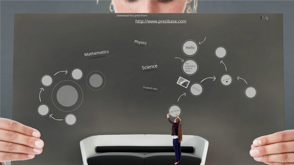 girl holding a picture with different schematics template