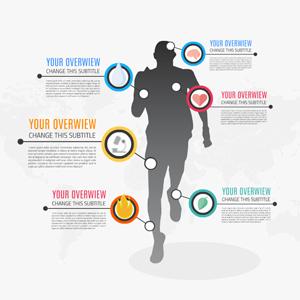 men sport infographic prezi template