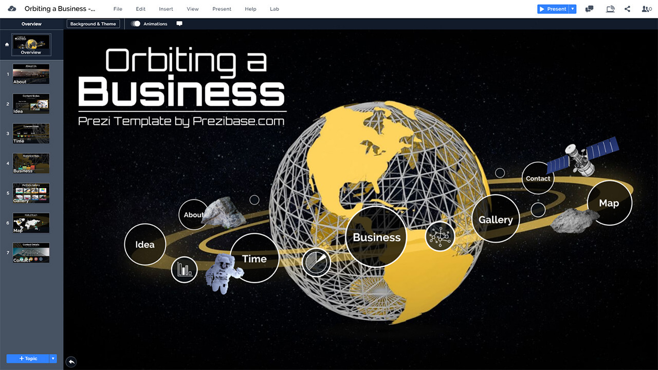business-orbit-space-planet-world-creative-cosmos-presentation-template-powerpoint-prezi