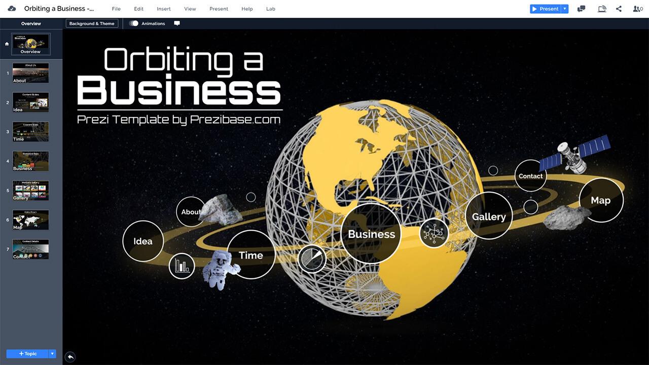 business-orbit-space-planet-world-creative-cosmos-presentation-template-powerpoint-prezi