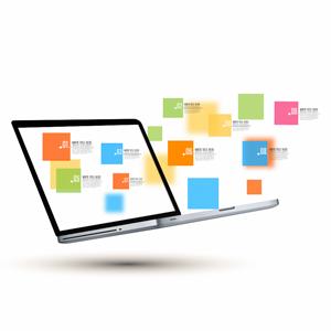 prezi template business laptop