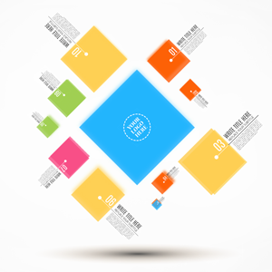prezi template business squares