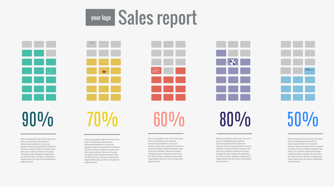 sales report Prezi template