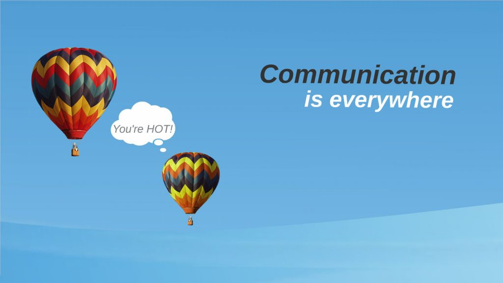 sea themed Prezi Template about communication