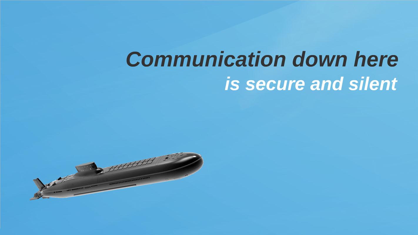 sea themed Prezi Template about communication