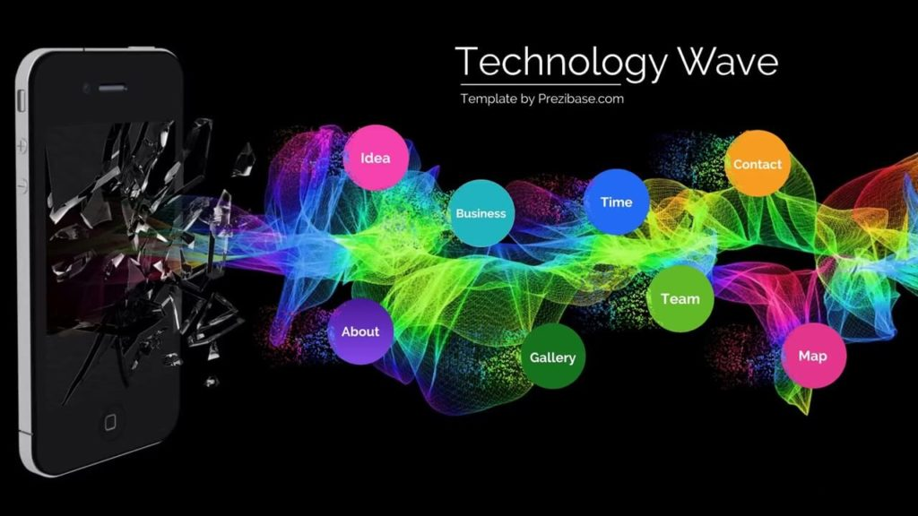 Technology Wave Prezi Next Template Creatoz Collection