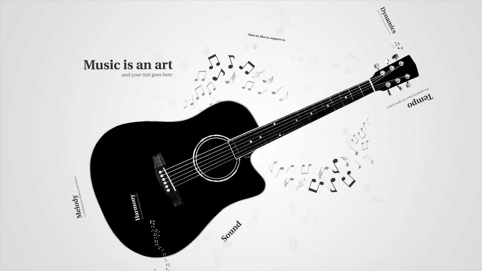 music - prezi template video | creatoz collection, Presentation templates