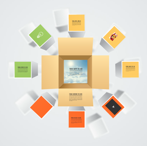 Think outside the box Prezi template