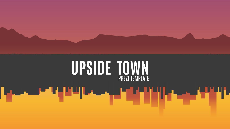 upside town Prezi template