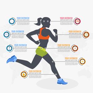 woman sport infographic Prezi template