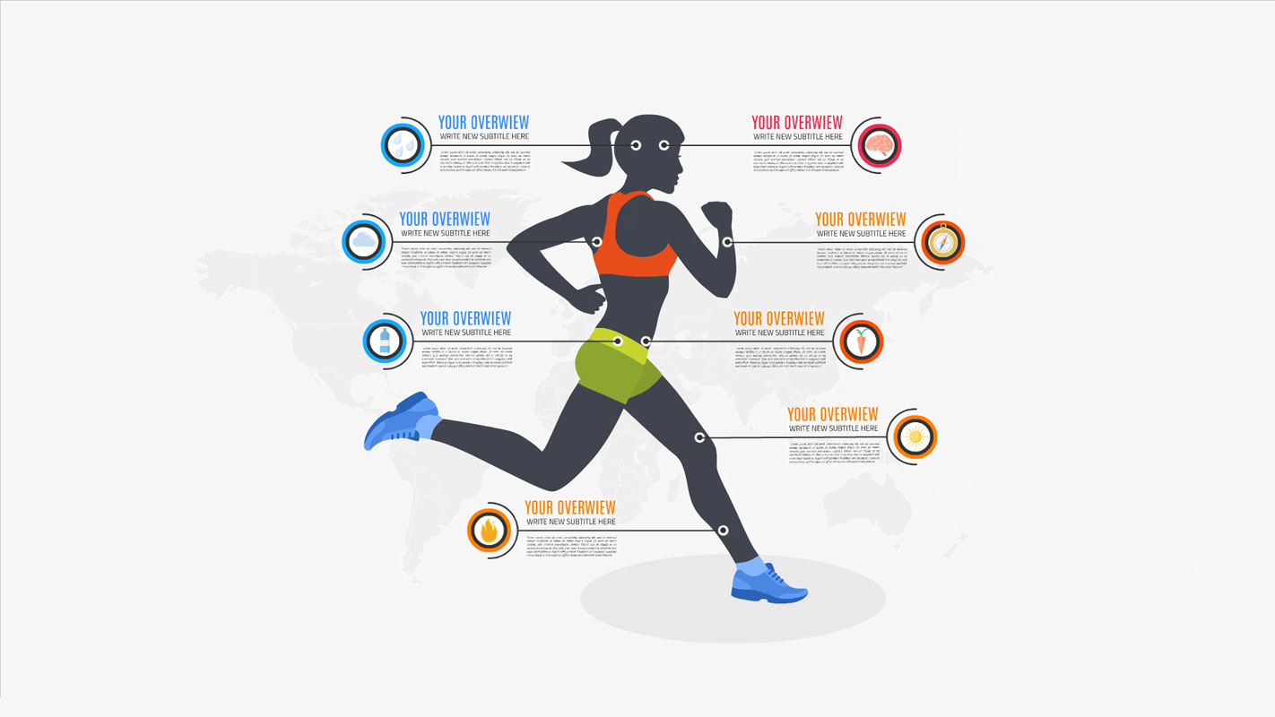 women sport infographic prezi template